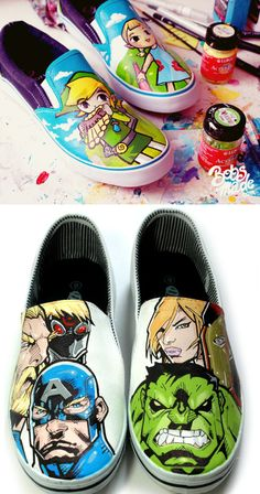 Painted Shoes – DIY So want to so this- but i Need ideas