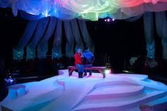 I like the draping on top. Northern lights can be projected on them. Set Design Theatre, Theatre Geek, Prop Design, Maine In The Fall, Eat Your Heart Out, Stage Set, Scenic Design, Stage Lighting, Northern Lights