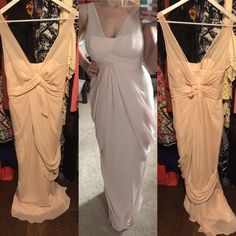 Vera Wang *White* Bridesmaid Dress in Blush Excellent NEW CONDITION-never worn longer than trying it on a few times. Size 2,fits like 2/4. I got pregnant and couldn't fit in this dress by the time the wedding came. Vera Wang Dress from White Collection. Color is Blush. A steal for $75 Vera Wang Dresses Wedding