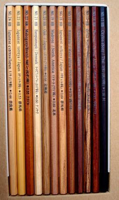 woods pencils 1936 made in Japan. you can feel the deep forest of the world. via chocochip
