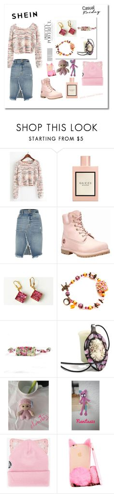 """Pink casual friday"" by nanitas23 ❤ liked on Polyvore featuring Gucci, River Island, Timberland and Silver Spoon Attire"
