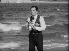 "Buster Keaton in ""The Cameraman"" - one of the most heart-wrenching scenes ever captured on film"