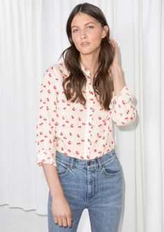 & Other Stories | Cherry Print Button Down