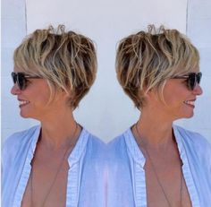 Brown Pixie Bob With Blonde Highlights knallt Grunge 90 Classy and Simple Short Hairstyles for Women over 50 Classic Hairstyles, Pixie Hairstyles, Pixie Haircuts, Hairstyles 2016, Wedge Hairstyles, Feathered Hairstyles, Latest Hairstyles, Brunette Hairstyles, Simple Hairstyles