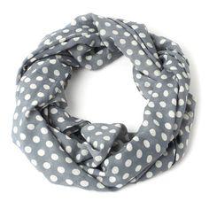 gray infinity dots scarf.