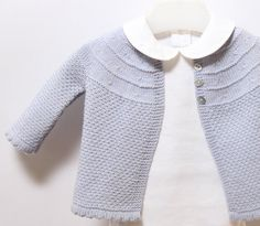 Baby Jacket / Knitting Pattern Instructions in English / PDF Instant Download / Sizes 3 / 6 / 9 months