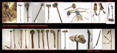 Prima della venuta degli europei tra le popolazioni indigene del nord America non conoscevano il ferro. Le mazze erano fatte di pietra, corno o legno. Questi reperti esposti sono mazze da guerra o cerimoniali dalle forme particolari.