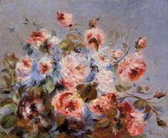 Roses from Wargemont - Pierre-Auguste Renoir (1885)