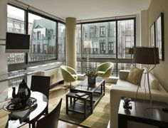 Imagine the views from this serviced apartment in New York!