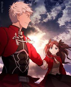"""Archer"" ""Tohsaka Rin"" 3d Fantasy, Fantasy Warrior, Rin Tohsaka, Fate Stay Night Rin, Fate Archer, Archer Emiya, Gilgamesh Fate, Shirou Emiya, Fate/stay Night"