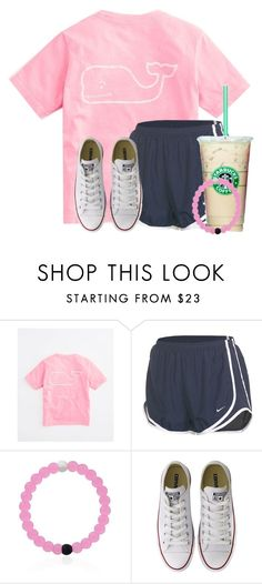"""Relaxing Saturday☀️"" by flroasburn ❤ liked on Polyvore featuring Vineyard Vines, NIKE and Converse"