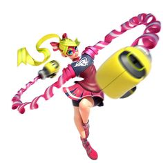 Ribbon  girl from Nintendo switch new game/Arms! Most people didn't get excited about even me but when I first tried it, was it fun. Now I really I want to buy it, look fun. My favourite character is ribbon  girl. What your favourite?