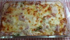Recette : Gratin de chou-fleur, brocoli et jambon. Brocolli, Vegetable Salad, Lasagna, Food And Drink, Favorite Recipes, Nutrition, Dinner, Vegetables, Eat