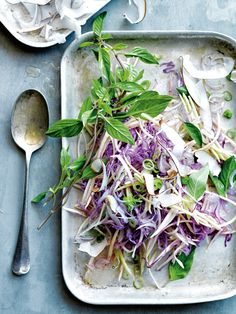 Red Cabbage Mango And Coconut Slaw | Donna Hay