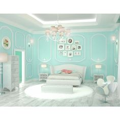20 Bedroom Paint Ideas For Teenage Girls Tiffany blue is a refreshing hue that is cool and comforting. It brings class and elegance in your teen's bedroom design with a feminine touch. Teenage Girl Bedroom Designs, Teenage Girl Bedrooms, Bedroom Girls, Teen Rooms, Bedroom Themes, Bedrooms Ideas For Teen Girls, Cool Rooms For Teenagers, Girls Bedroom Colors, Blue Bedrooms