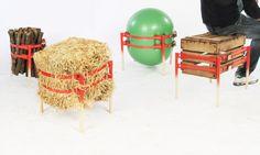 Objeto sencillo y funcional para reutilizar y reciclar casi cualquier objeto y convertirlo en un cómodo taburete