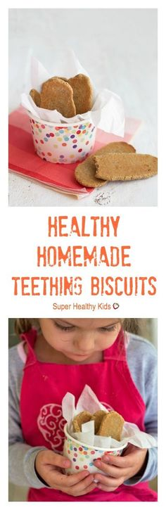 Healthy Homemade Teething Biscuits. These only have 3 ingredients, and they're so easy to make!