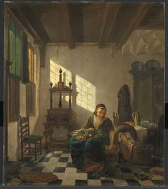 The Housewife, 1811 by Abraham van Strij (1753 – 1826, Dutch)