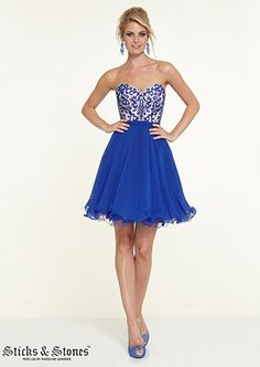 9a75adfe40c Illuminate your formal event in this Sticks N Stones 9313 Homecoming dress
