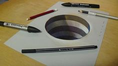 Drawing 3D Hole for Kids - How to Draw 3D Circular Hole - Trick Art for ...