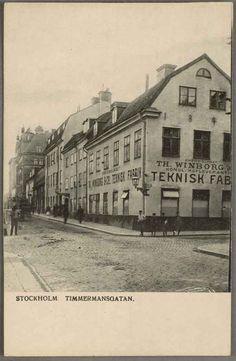 Vykort troligen från sekelskiftet som visar Timmermansgatan.