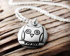 Silver Owl Neclace $36