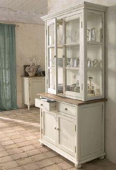 white cabinet...drapes