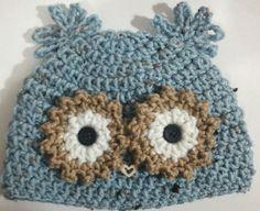 handmade crochet baby owl beanie hat 03 months by aprilandjody, $16.00