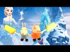 Animation Start Motion Ice Cream Lollipop Peppa Pig Elsa Frozen Helado 动画的运动,冰淇淋 Funny Toyo Surprise - YouTube