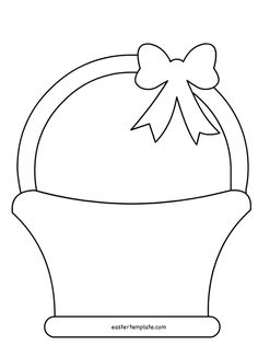 New basket pattern pictures ideas Easter Basket Template, Easter Templates, Bunny Templates, Leaf Template, Easter Activities, Easter Crafts For Kids, Bunny Crafts, Craft Stick Crafts, Paper Crafts