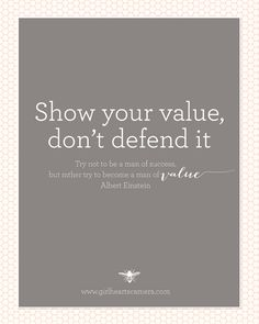 Show Your Value