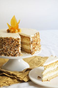 Hazelnut Cake with Apple Buttercream