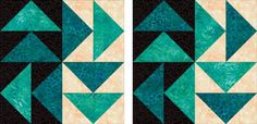 Strippy Set Dutchman's Puzzle Quilt Pattern: Dutchman's Puzzle Quilt Block Duo