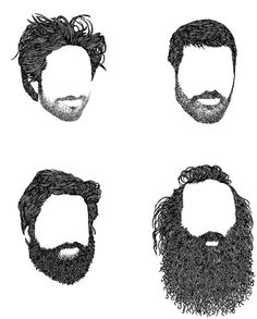 Creative Image, Spark, -, Tagged, and Illustration image ideas & inspiration on Designspiration Beard No Mustache, Hair And Beard Styles, Drawing Techniques, Illustrations Posters, Graphic Art, Art Drawings, Art Photography, Character Design, Illustration Art