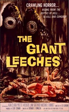 THE GIANT LEECHES Vintage Movie Film Poster Home Wall Art Print A4,A3,A2,A1