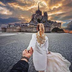 L'homme qui a suivi sa copine à travers le monde s'est marié et les photos de son mariage sont magnifiques !