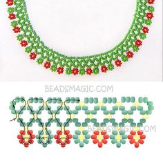 Com - Her Crochet Diy Necklace Patterns, Beaded Jewelry Patterns, Beaded Crafts, Jewelry Crafts, Handmade Jewelry, Beading Patterns Free, Beading Tutorials, Seed Bead Jewelry, Bead Jewellery