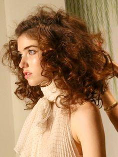 The final look – Retro Edwardian hair for Jenny Packham's runway show #TRESmbfw #mbfw