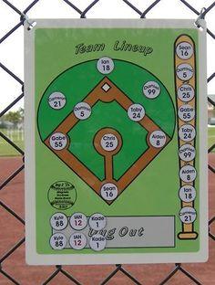 Baseball Softball Coaches Magnetic Dry Erase Lineup Board | Sporting Goods, Team Sports, Baseball & Softball | eBay!
