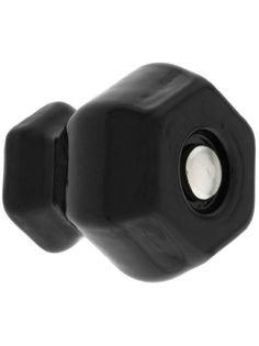 Medium Hexagonal Black Glass Cabinet Knob With Nickel Bolt. Vintage Knobs. - Amazon.com