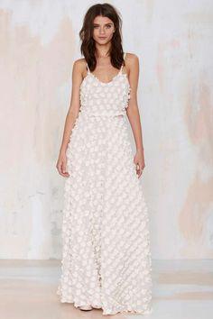gorgeous dress with appliqués