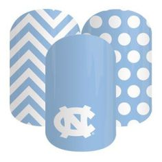 University of North Carolina Fans! These nail wraps are perfect for you!  Click the picture to get them now! No dry time, non-toxic, vegan, allergy friendly and lasts about 2 weeks on your mani!