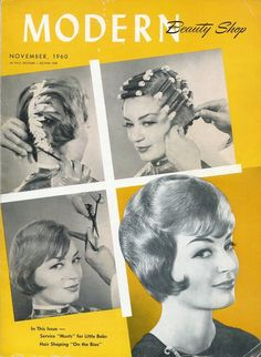 Modern Beauty Shop Magazine, Lot of Three Vintage Hair Salon Periodicals published 1960 & 1961. 55.00, via Etsy.