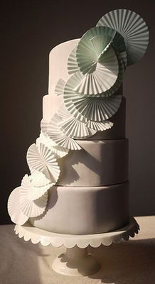 White Origami Wedding Cake / Charm City Cake