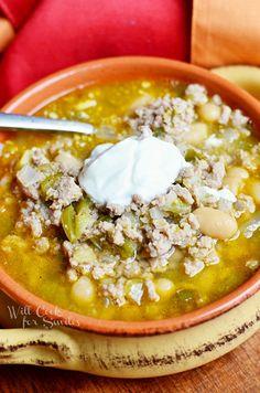 White Turkey Chili | from willcookforsmiles.com #chili #turkey