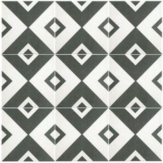 Merola Tile Twenties Vertex 7-3/4 in. x 7-3/4 in. Ceramic Floor and Wall Tile-FRC8TWEV - The Home Depot