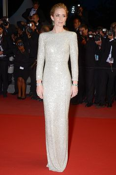 Emily Blunt in a Stella McCartney gown for the 'Sicario' premiere at the Cannes International Film Festival, May 2015. Photo: Getty.