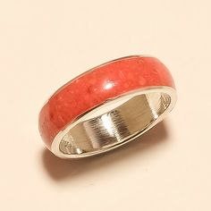 Natural Italian Spongy Red Coral Ring 925 Sterling Silver Statement Fine Jewelry #Handmade #Handmade #ChristmasGifts Coral Turquoise, Red Coral, Jewelry Gifts, Fine Jewelry, Eid Gift, Coral Ring, Sterling Silver Rings, Rings For Men, Gemstones