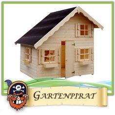 Großes Kinder-Spielhaus Gartenhaus Heidi aus Holz unbehandelt 220x180x228 cm | eBay