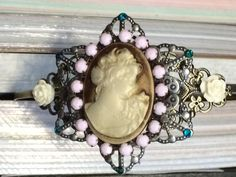 Rose Cameo Headband by BecksCuriousities on Etsy